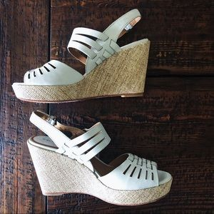 "Trask ""Willow"" Leather Platform Wedge"